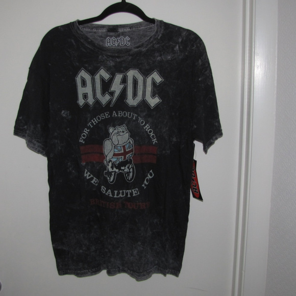 Bulldog Ac Dc Wash Acdc L Band Boutique English Tshirt Acid 3Aq4j5LR